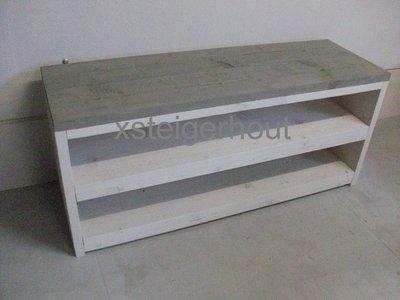 Tv meubel xsteigerhout for Bouwpakket steigerhout