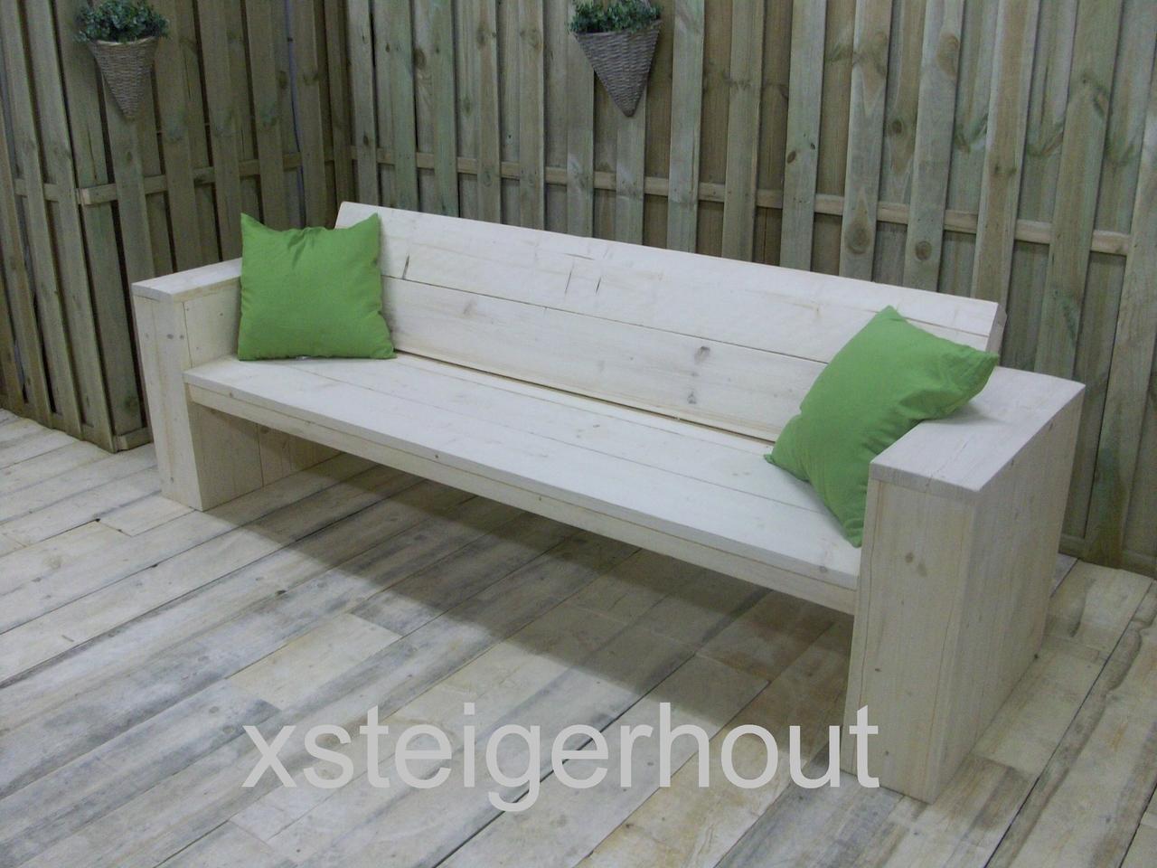 Eetbank Van Steigerhout.Loungebank Steigerhout Bouwpakket V A 109 Xsteigerhout Nl