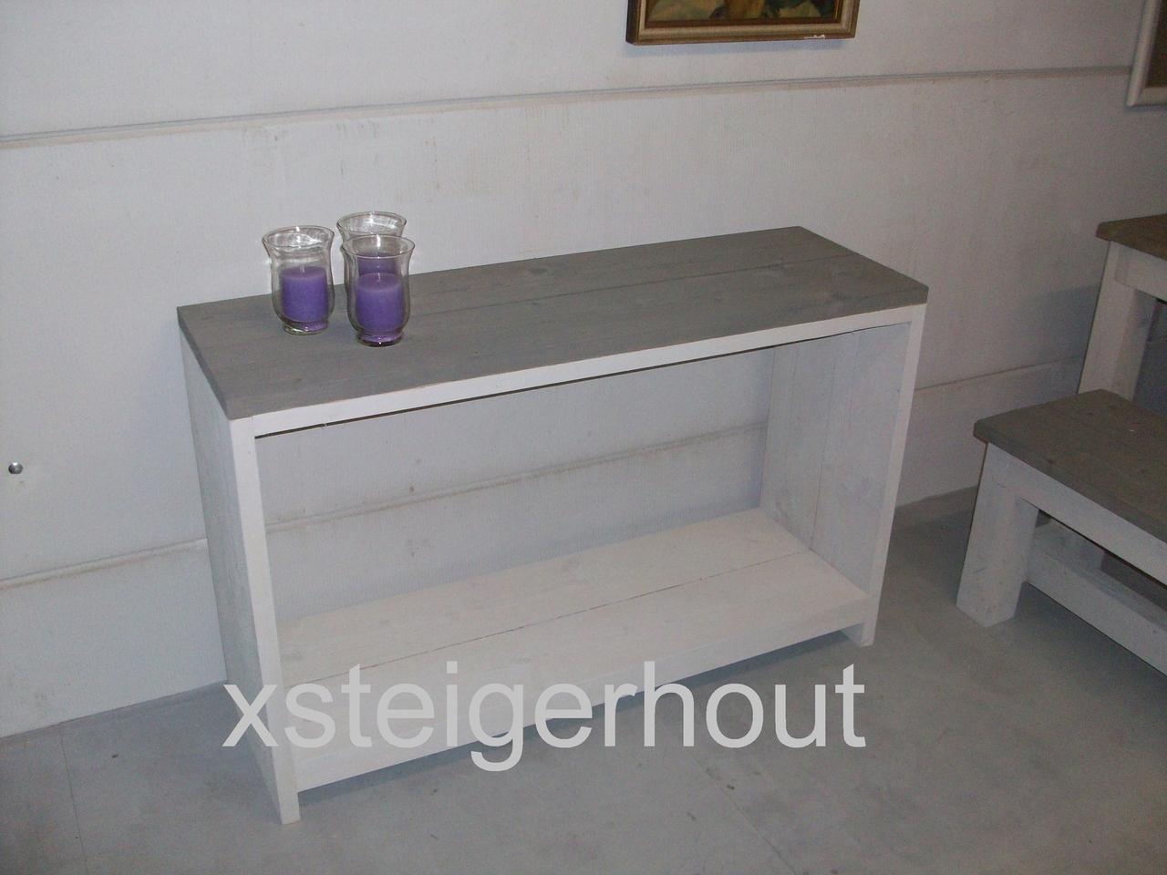 Smalle Sidetable 20 Cm Diep.Smalle Sidetable Op Maat Bouwpakket Steigerhout