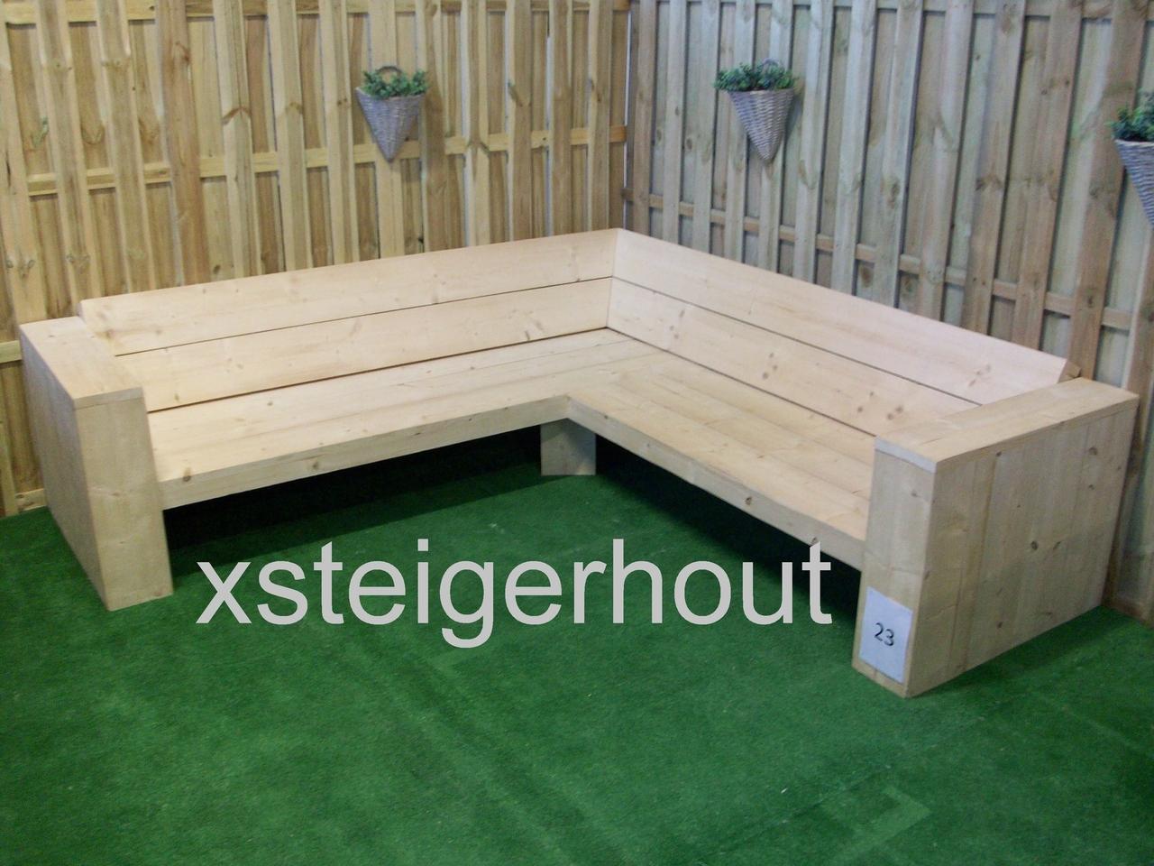 Hoekbank Lounge Steigerhout.Hoekbank Steigerhout Bouwpakket