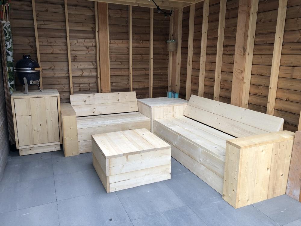 Steigerhout overkapping meubels