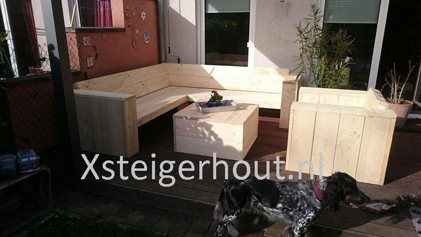 Loungeset steigerhout zelf gemaakt