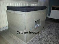 Steigerhout kattenhuis