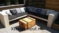Hoekbank steigerhout om zelf te maken
