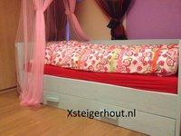 Steigerhout bed met lade