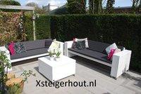 Steigerhout loungeset met wielen