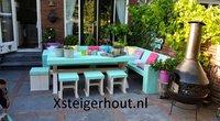 Steigerhout dinnerset