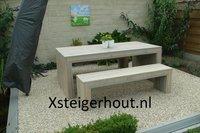 Steigerhout tuinset Belgie