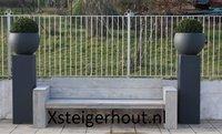 Steigerhout loungebank Frankrijk