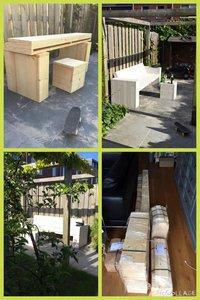 Loungebank steigerhout van bouwpakket tot bank