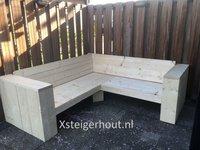 Hoekbank steigerhout 200x200 cm