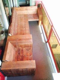 kleine hoekbank balkon