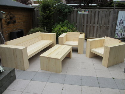 Steigerhout meubels gemaakt met een bouwpakket xsteigerhout for Bouwpakket steigerhout