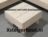 Zwevende loungebank op maat steigerhout bouwpakket_