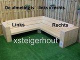 Steigerhout hoekbank welke kant is links x rechts