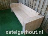 loungebank steigerhout zijkant