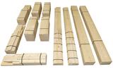 Bouwpakket hoekbank steigerhout met tafel in de hoek