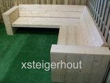 Hoekbank steigerhout zijkant