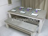 Tuinset steigerhout grey en white wash