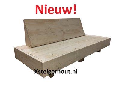 Zwevende loungebank steigerhout bouwpakket