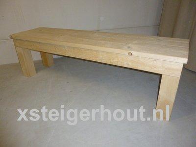 Steigerhout bankje bouwpakket