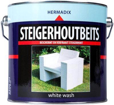 Steigerhout-beits-white wash-2500ml