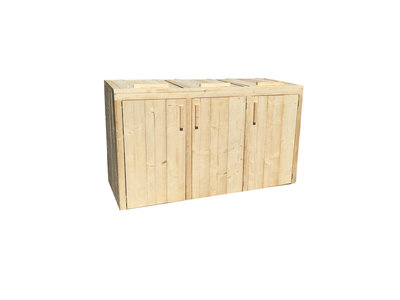 Kliko ombouw - Container ombouw - steigerhout -bouwpakket