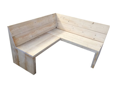 Hoekbank eethoek bouwpakket steigerhout
