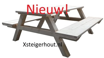 Picknicktafel steigerhout bouwpakket