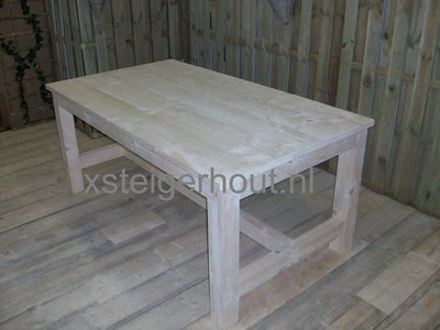 Bouwtekening Kloostertafel steigerhout