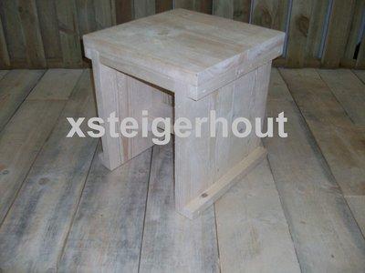 Bouwtekening Krukje steigerhout