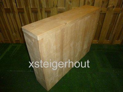 Bouwtekening Armleuning steigerhout