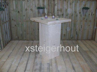 Bouwtekening Bartafel / Statafel steigerhout