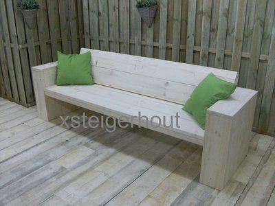 Steigerhout loungebank op maat