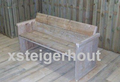 Tuinbank-op maat-bouwpakket-steigerhout