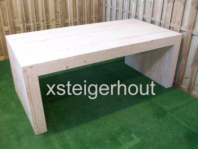 U-Tafel-op maat-bouwpakket-steigerhout