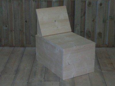 Kleine rechte bank steigerhout-bouwpakket