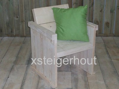 Tuinstoel-bouwpakket-steigerhout