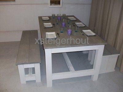 Bouwpakket steigerhout kloostertafel set