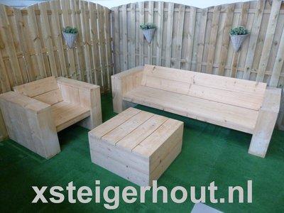 Steigerhout loungeset bouwpakket xsteigerhout for Steigerhout loungeset zelf maken