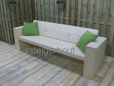 Loungebank steigerhout bouwpakket v a 109 for Foto op hout maken eigen huis en tuin