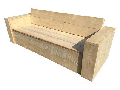 Steigerhout opbergbank bouwpakket xsteigerhout for Bouwpakket steigerhout