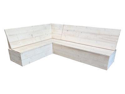 Oostenrijkse eethoek steigerhout bouwpakket xsteigerhout for Bouwpakket steigerhout