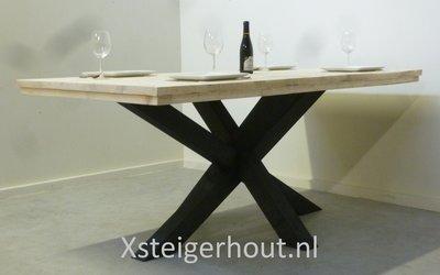 Kruispoot tafel aconcagua landelijke stijl oud is nieuw