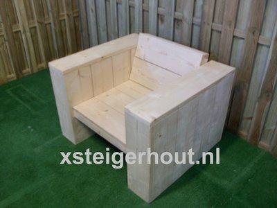 Steigerhout loungestoel diep