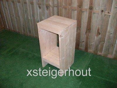 Steigerhout barkruk