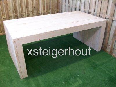 Steigerhout tafel u model