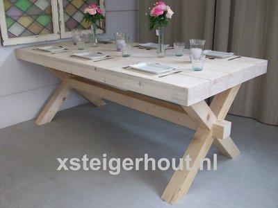 steigerhout kruispoottafel