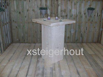 Bouwtekening Statafel Steigerhout.Statafel Bartafel Bouwpakket Steigerhout