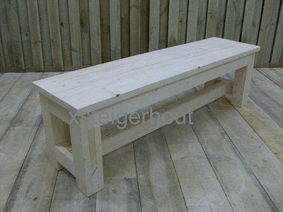 Kloosterbankje steigerhout bouwpakket xsteigerhout for Bouwpakket steigerhout